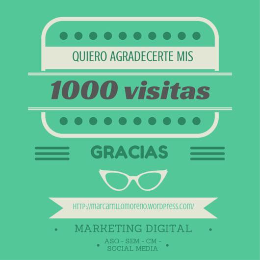 Mar Carrillo - 1000 visitas - Gracias
