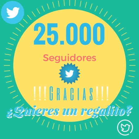 25000 seguidores -  Mar Carrillo