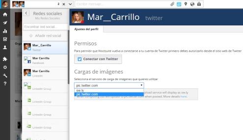 cambiar configuracion Hootsuite -  Mar Carrillo