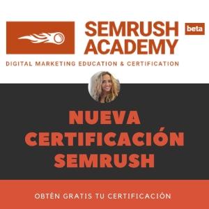 nueva certificación semrush mar carrillo